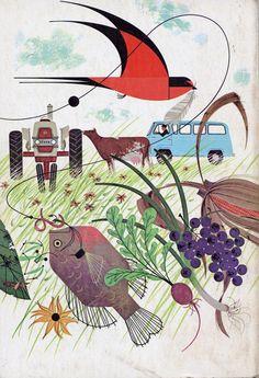 Charley Harper, 1962 Ford Almanac Back Cover