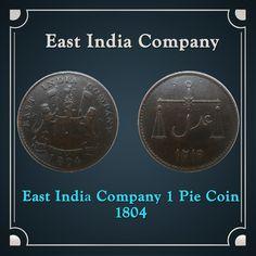 1804 East India Company 1 Pie Coin – RARE
