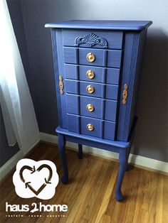 I used Krylon's new line of Chalky paint to transform this jewelry armoire. And the best part was, it cost me $14. The paint went on smooth and was easy to use!  #Krylon haus2home.com