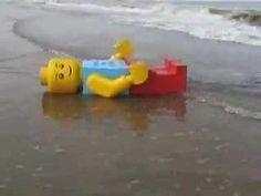 giant Lego figurine washed up on the shore of Siesta Key Beach Talk 4 Writing, Siesta Key Beach, Lego Man, Boggle, Rubber Duck, Legos, Aliens, Multimedia, Tat