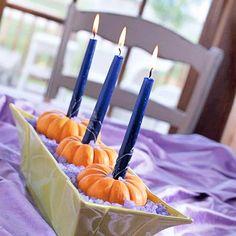 Mini Pumpkin Candleholders