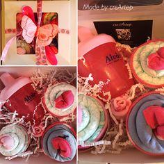 #diapercake #cupcake #girl #socks