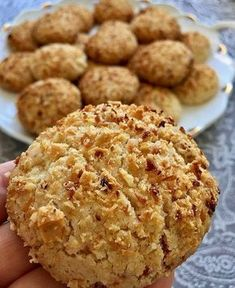 Image may contain: dessert and food Bithday Cake, Coconut Recipes, Breakfast Items, Turkish Recipes, Sweet Bread, Desert Recipes, Cake Cookies, Snacks, Cookie Recipes