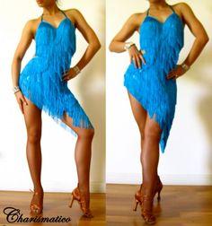 Charismatico Dancewear Store - Blue Fringe Latin DANCE BodySuit Dress, $135.00 (http://www.charismatico-dancewear.com/products/Blue-Fringe-Latin-DANCE-BodySuit-Dress.html)