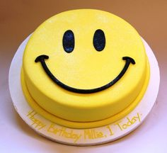 Smiley cake...I actually might think it's too cute to eat it!