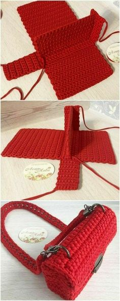 Free Crochet Bag, Crochet Market Bag, Diy Crochet, Crochet Crafts, Crochet Baby, Crochet Projects, Modern Crochet, Crochet Granny, Crochet Ideas