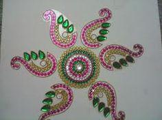 223 Best Kundan Rangoli Images Handicraft Craft Crafts