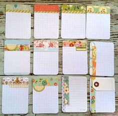 Mish Mash: Handmade Project Life Journaling Cards...