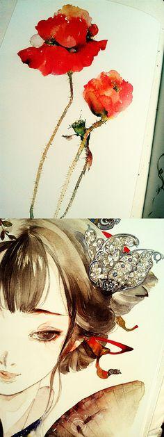 Album of Painting《Flower · girl》 ByMy friend ——...