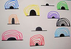 Exploring line - semi-circles Writing Area, Pre Writing, Motor Activities, Activities For Kids, Funky Fingers, Form Drawing, Gross Motor Skills, Preschool Art, Eyfs