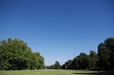 """Cielo incredibilmente blu al """"pratone"""".  Parco delle Cascine, Firenze"""