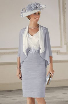 70992 Smokey Amethyst Condici Ruched Dress With Floaty Jacket Mother Of Bride Outfits, Mothers Dresses, Mother Of The Bride, Bride Dresses, Grey Chiffon Dress, Ruched Dress, Dusty Pink Dresses, Frack, Groom Dress