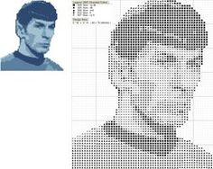 Mr. Spock Cross Stitch Pattern by black-lupin on deviantART - how did I live my life previously, without this pattern in it?