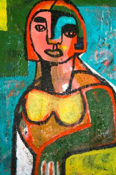 LADY WITH ORANGE HAIR  BY HELEN OPREY- SOLD