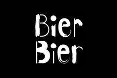 Logotype for Helsinki based beer bar Bier Bier by Finnish graphic design studio Tsto