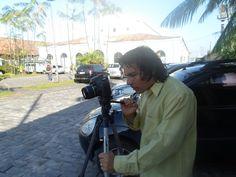 Luxã Nautilho com sua 7D, ensaio cinematográfico fotografado por Daniel Mozart, na Fundação Curro Velho em Belém, 04.06.2014
