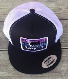 Black and White Lazy J Ranch Wear Hereford and Sunset Cap (4