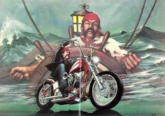 "David Mann Motorcycle Art   DAVID MANN Sea Pirate Motorcycle Art ""Buccaneer""   David Mann"
