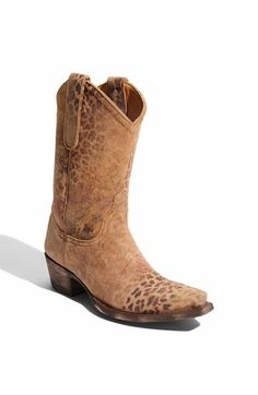 Cowgirl Boots with a hint of leopard!