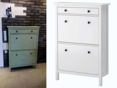 before&after Ikea Miss Mustard Seeds, Milk Paint, Houzz, Painted Furniture, Tall Cabinet Storage, Dresser, Painting, Buffet, Home Decor