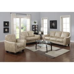 Chintaly Fremont 3 Piece Sofa Set - CTY2221