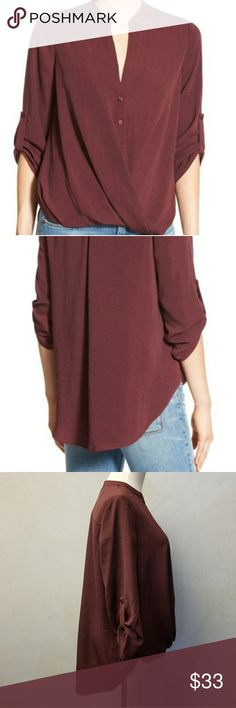 NWT Lush burgundy top Brand new with tags lush burgundy top Lush Tops