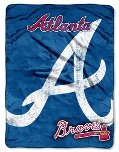 "Atlanta Braves 46"" x 60"" Micro Raschel Throw Blanket - Triple Play Design"