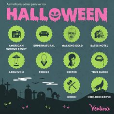 Maratona de séries para o Halloween! Best series to watch on Halloween! Hemlock Grove, True Blood, Grimm, Horror Stories, Halloween, Social Networks, Resim, Spooky Halloween