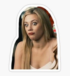 Pegatina lili reinhart Snapchat Stickers, Meme Stickers, Tumblr Stickers, Cool Stickers, New Sticker, Logo Sticker, Lili Reinhart, Riverdale Wallpaper Iphone, Red Bubble Stickers