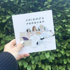 Friends Forever  Cute friendship greeting card sold in Urban Outfitters.