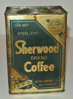 Vintage Tins, Vintage Coffee, Coffee Tin, Coffee Packaging, Canning, Coffee Mug, Home Canning, Vintage Cafe, Conservation