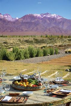 Valle de Uco, Mendoza, Argentina #peaceful #lunch #southamerica