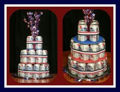 Beer cake I made for my husband's deployment homecoming.