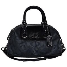 757696f6447 Coach Signature Ashley Sabrina Convertiable Duffle Satchel Bag Purse 15443  Black Grey