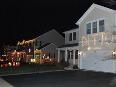 Christmas lights in the neighborhood. I can get on-board with this.