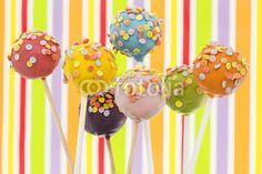 bunte Cake Pops mit Hintergrund, Kuchen, Süßigkeit