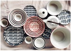 inspired by trash | Monohara Ceramic Collection by House Industries | Spoon & Tamago