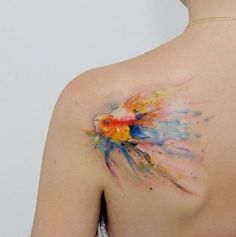 Pin for Later: Werdet richtig kreativ mit Aquarell-Tattoos