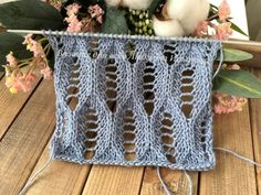 Openwork knit pattern for summer products. Diy Crafts Knitting, Loom Knitting Projects, Knitting Stiches, Knitting Blogs, Knitting Charts, Lace Knitting, Knitting Machine Patterns, Easy Knitting Patterns, Crochet Motif