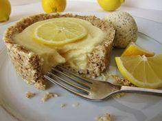 Raw Little Lemon Tart with Lemon Almond Poppyseed Ice Cream