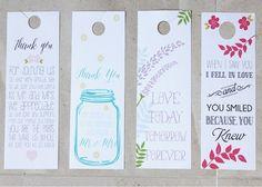Custom Door Hangers by Love Notes Stationery! wedding details, wedding paper, wedding menus, wedding thank you cards, wedding stationery