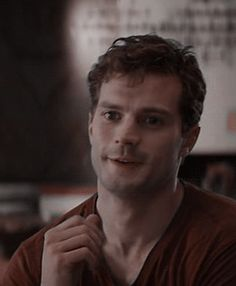 """""""""""Good morning, Miss Steele. You're very energetic this morning,"""" he says dryly. His lips try to mask his smile. """""""