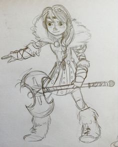Drawing of dreamworks Astrid. By Yenthe Joline.