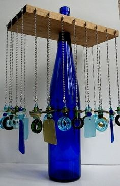 Necklace display using bottle