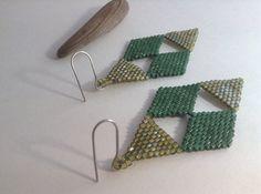 Beadwork Earrings. Geometric Earrings. Beaded Earrings. Brick Stitch Earrings on Etsy, $49.00