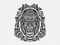Gorilla Head - tattoo