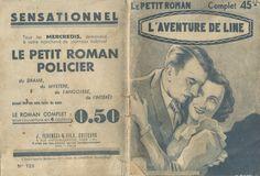 Illustrateur signature illisible- Anny Lorn, L'aventure de Line, Ferenczi Le Petit Roman n°723, n° d'éd. absent, janvier 1939. hebdo, 32 pages.
