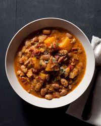 Cranberry Bean and Pumpkin Stew with Grated Corn Recipe on Food & Wine