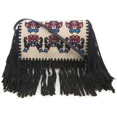 Isabel Marant Shiloh fringed embroidered suede clutch ($800) ❤ liked on Polyvore featuring bags, handbags, clutches, bolsas, ivory multi, suede purse, fringe purse, boho purse, bohemian handbags and bohemian purse