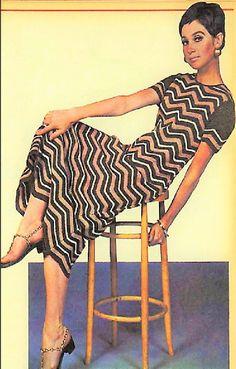 db32da42051 Vintage Crochet Pattern Womens Chevron Stripe Sweater Top Mini Midi or Maxi  Dress PDF Instant Digital Download Zig Zags Design 5 Ply